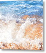 Wave Up Close Metal Print