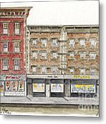 Waverly Diner In Greenwich Village Metal Print