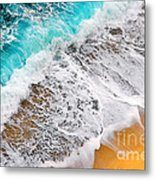Waves Abstract Metal Print