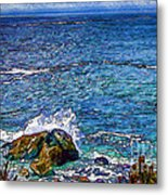Waves And Splashes Metal Print