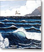 Waves And Tern Metal Print by Barbara Griffin