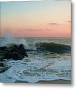 Waves At The Point West Cape May Nj Metal Print