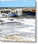 Waves At Tybee Metal Print