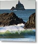 Waves Breaking At Ecola State Park Metal Print