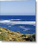 Waves Breaking On The Beach, Western Metal Print