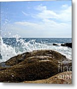 Waves Crashing Metal Print by Olivier Le Queinec