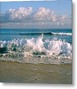 Waves Crashing On The Beach, Varadero Metal Print