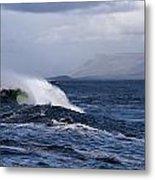 Waves In Easkey 2 Metal Print by Tony Reddington