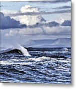 Waves In Easkey Metal Print by Tony Reddington