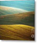 Waves Of Colours Metal Print