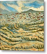 Waves Of Ganga Metal Print
