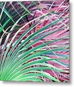 Waves Of Palm Metal Print