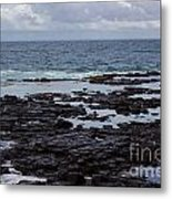 Waves Over  Rocks Metal Print