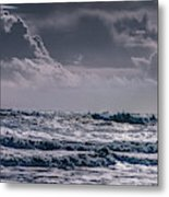 Waves, Reynisfjara, South Coast, Iceland Metal Print