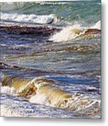 Waves - Wind - Fury Of The Sea Metal Print