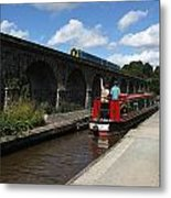 Waving At The Train Metal Print