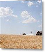 Waving Wheat Homestead Metal Print