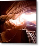 Wavy Antelope Canyon Rocks Metal Print