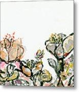 Wavy Flowers Metal Print