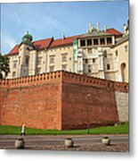 Wawel Royal Castle In Krakow Metal Print