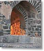 Way To The Fireplace Metal Print