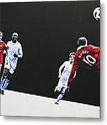 Wayne Rooney - Manchester United Fc Metal Print