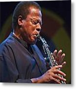 Wayne Shorter Plays Metal Print by Craig Lovell