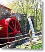 Wayside Inn Grist Mill Metal Print