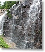 Wayside Waterfall - Acadia Np Metal Print