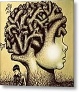 We Are Born With Enormous Potential But Pruned By The Limitations Of Pre-established Standards Metal Print