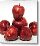 We Are Family - 6 Red Apples - Fresh Fruit - An Apple A Day - Orchard Metal Print