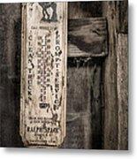 We Buy Old Horses - Vintage Thermometer Metal Print