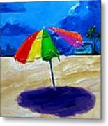 We Left The Umbrella Under The Storm Metal Print