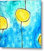 We Make A Family - Abstract Art By Sharon Cummings Metal Print