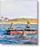 We Need A Biggah Boat Metal Print by Jack Skinner