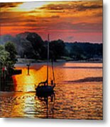 We Sail At Sunrise Metal Print