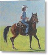 We Save Horses Three Metal Print