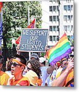 We Support Our Lgbtq Students Metal Print