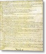 We The People Constitution Page 2 Metal Print