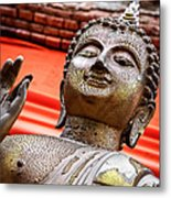 Wear-and-tear Buddha Metal Print by Dean Harte