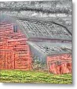 Weather Barn Metal Print by Sarah E Kohara