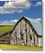 Weathered Barn Palouse Metal Print by Carol Leigh
