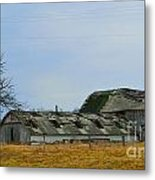 Weathered Barns Metal Print by Alys Caviness-Gober
