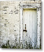 Weathered Door Metal Print by Diane Diederich