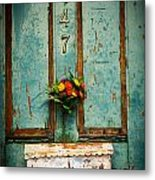 Weathered Door Metal Print by Patty Descalzi