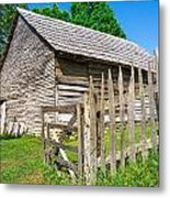 Weathered Old Country Barn Metal Print