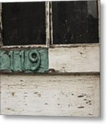 Weathered Old Door Metal Print