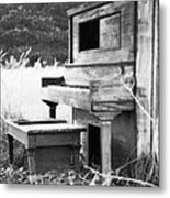 Weathered Piano Metal Print