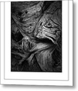 Weathered Poster Metal Print