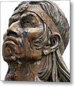 Weathered Statue Of Inca Warrior Metal Print